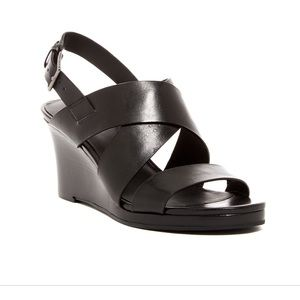 Cole Haan LEATHER  Penelope Wedge Sandal (70mm)